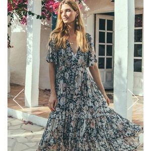 Spell Amethyst Garden Party midi dress
